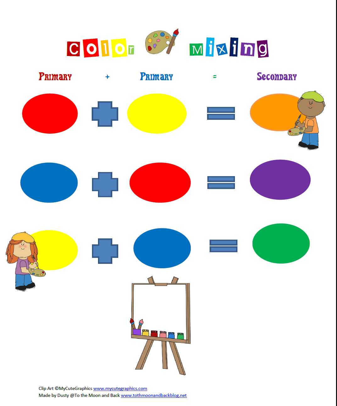 80+ Resources for Teaching Preschoolers About Color | To the Moon and Back