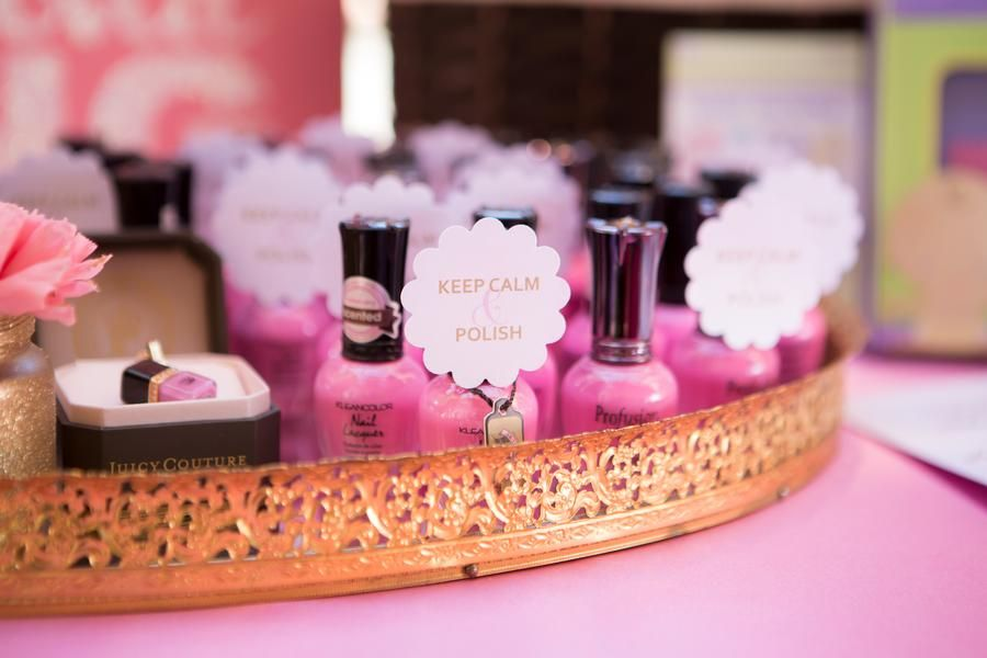 Pink Nail Polish Favors for a Baby Shower Couture baby