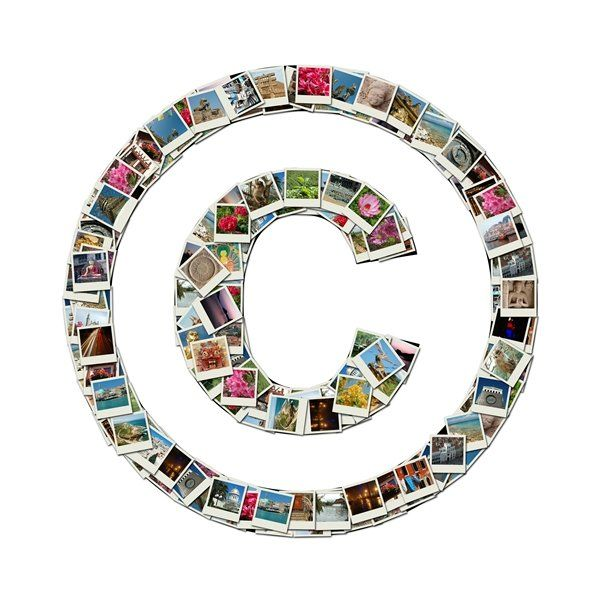 Copyright Symbol Made From A Collage Of Images Your Pinterest