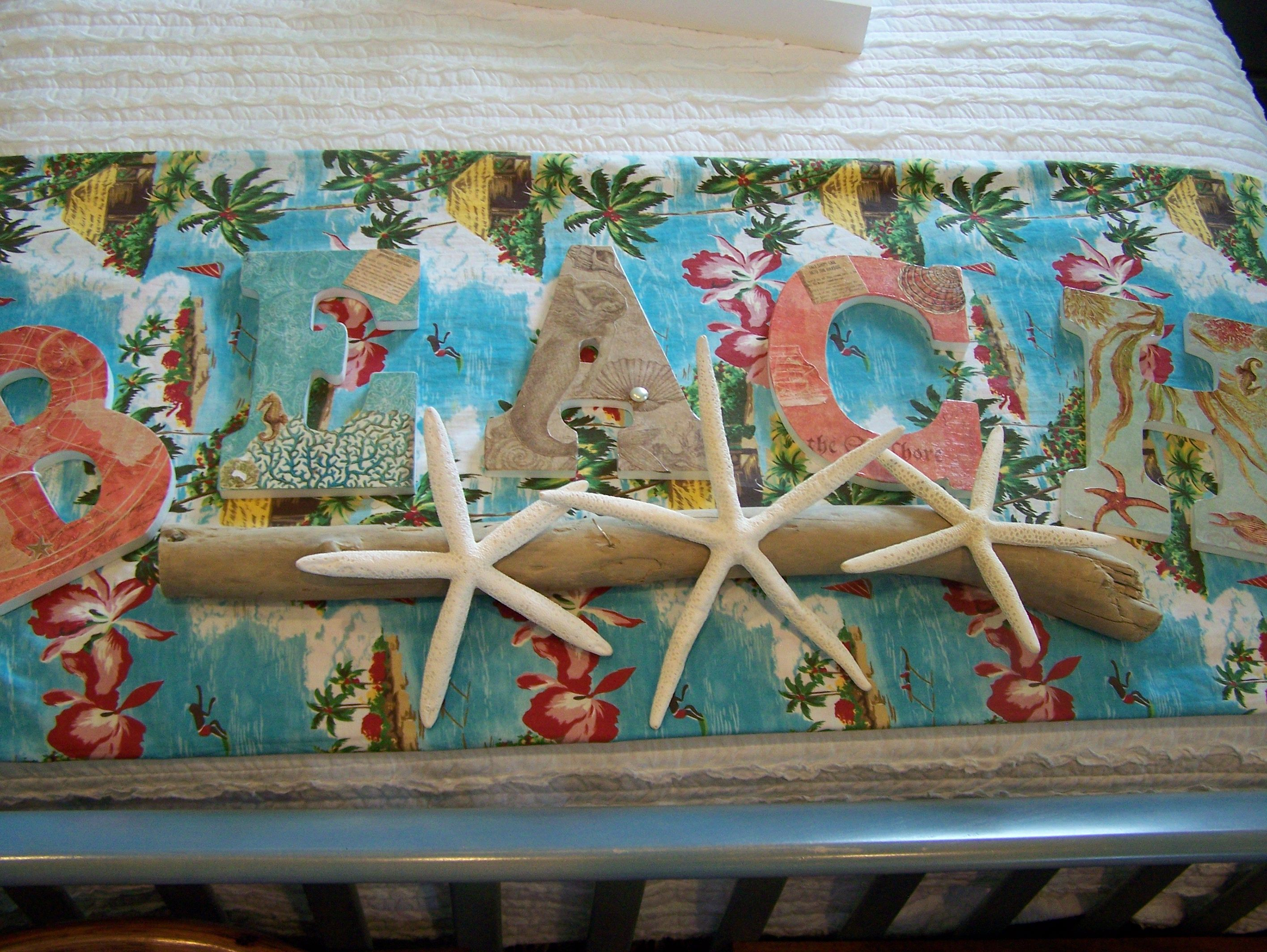 Beach Decoupage Letters Home By The Sea Virtual Tour
