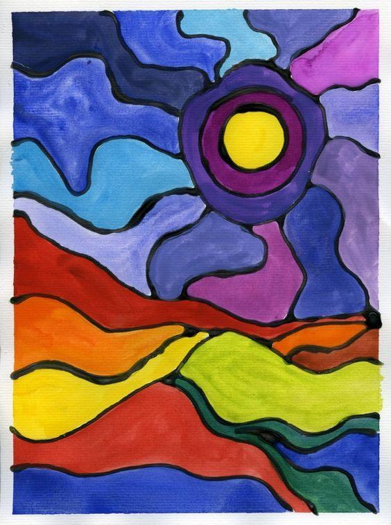 A la manière de Ted Harrison à lu0027ordinateur 1-Choisir une page avec - comment choisir sa peinture