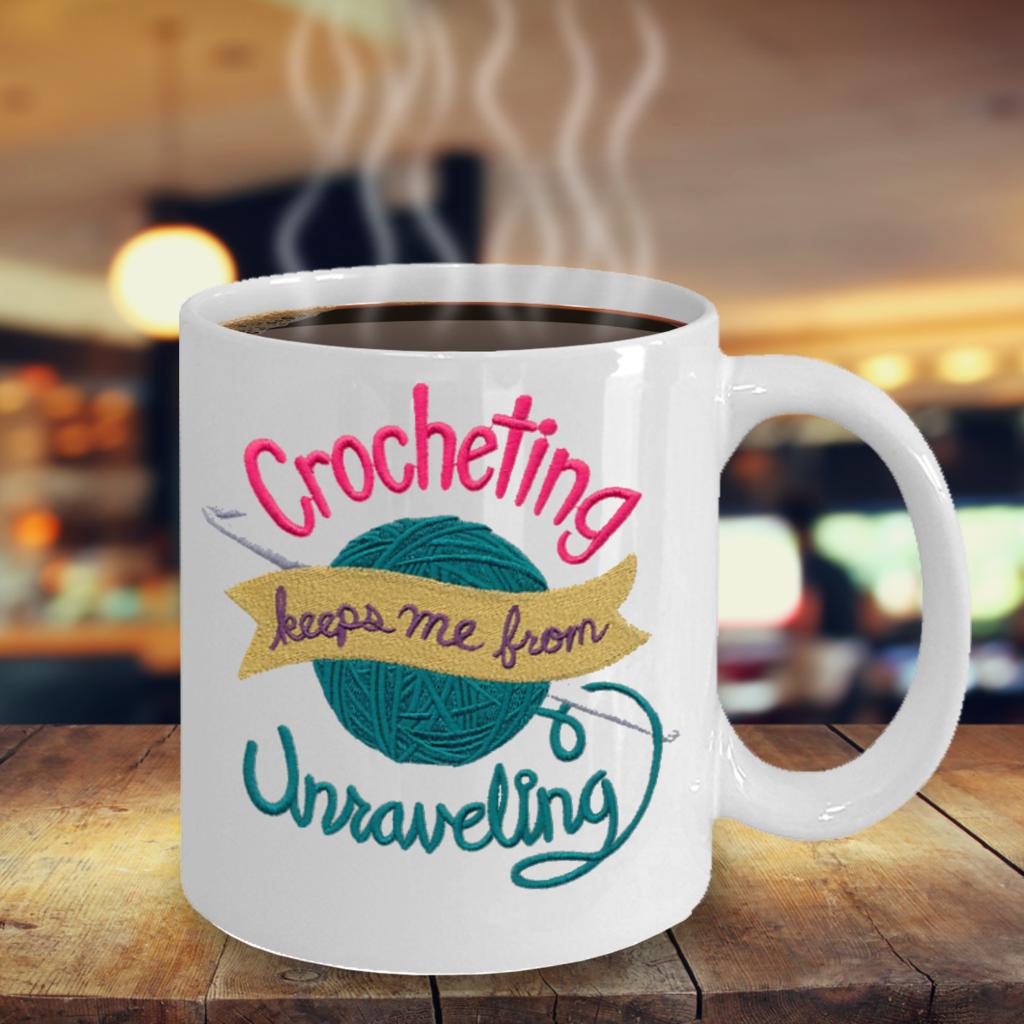 Funny Crocheting Coffee Mug Tea Cup Or Pen Pencil Holder