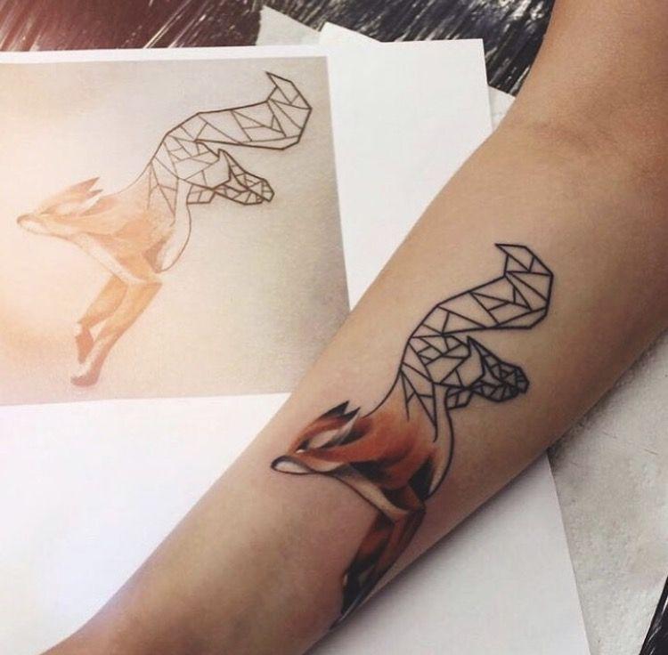 origami fox tattoo tattoo pinterest. Black Bedroom Furniture Sets. Home Design Ideas