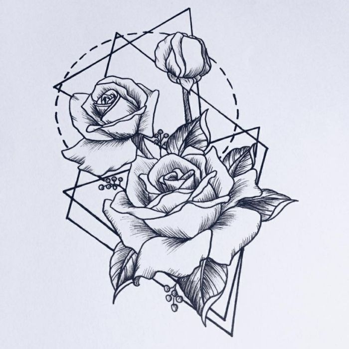 1001 Images Du Dessin Géométrique Magnifique Pour Vous Inspirer Dessin Mathématique Dessin Géométrique Tatouage Rose Géométrique