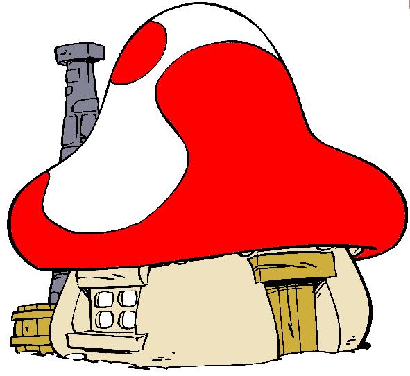 Mushroom house l playhouse l smurf house t rp k - Schtroumpf maison ...