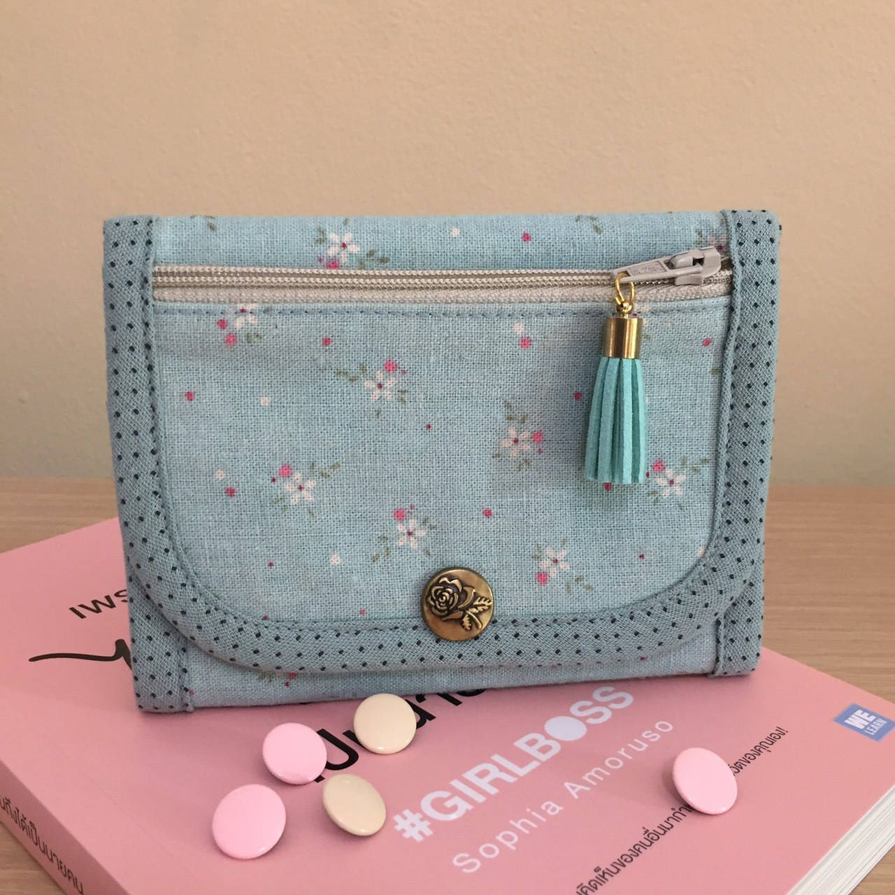 Blue Girl Mini Zip Purse