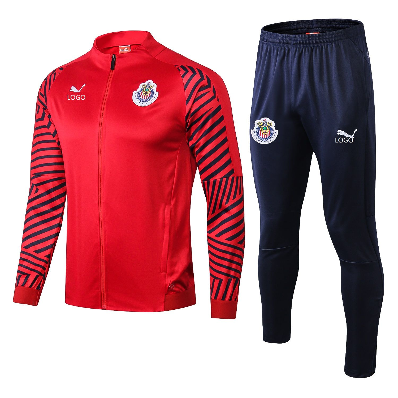 wholesale dealer 756e0 be53e 2018/19 Adult Chivas red long sleeve Soccer tracksuit ...