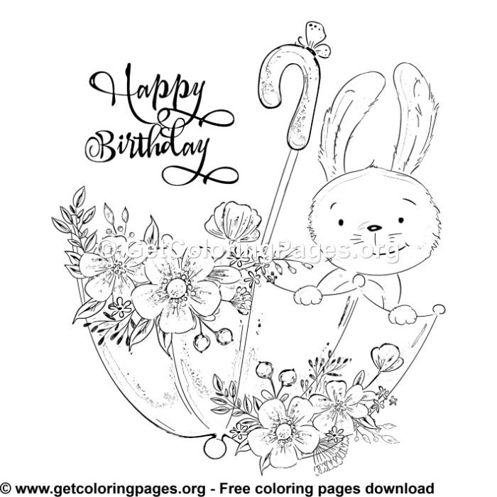 Happy Birthday 1 Coloring Pages (With images) | Coloring ...
