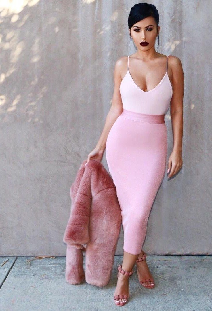 761080ac7b19 Pretty In Pink Top   Skirt  hotmiamistyles