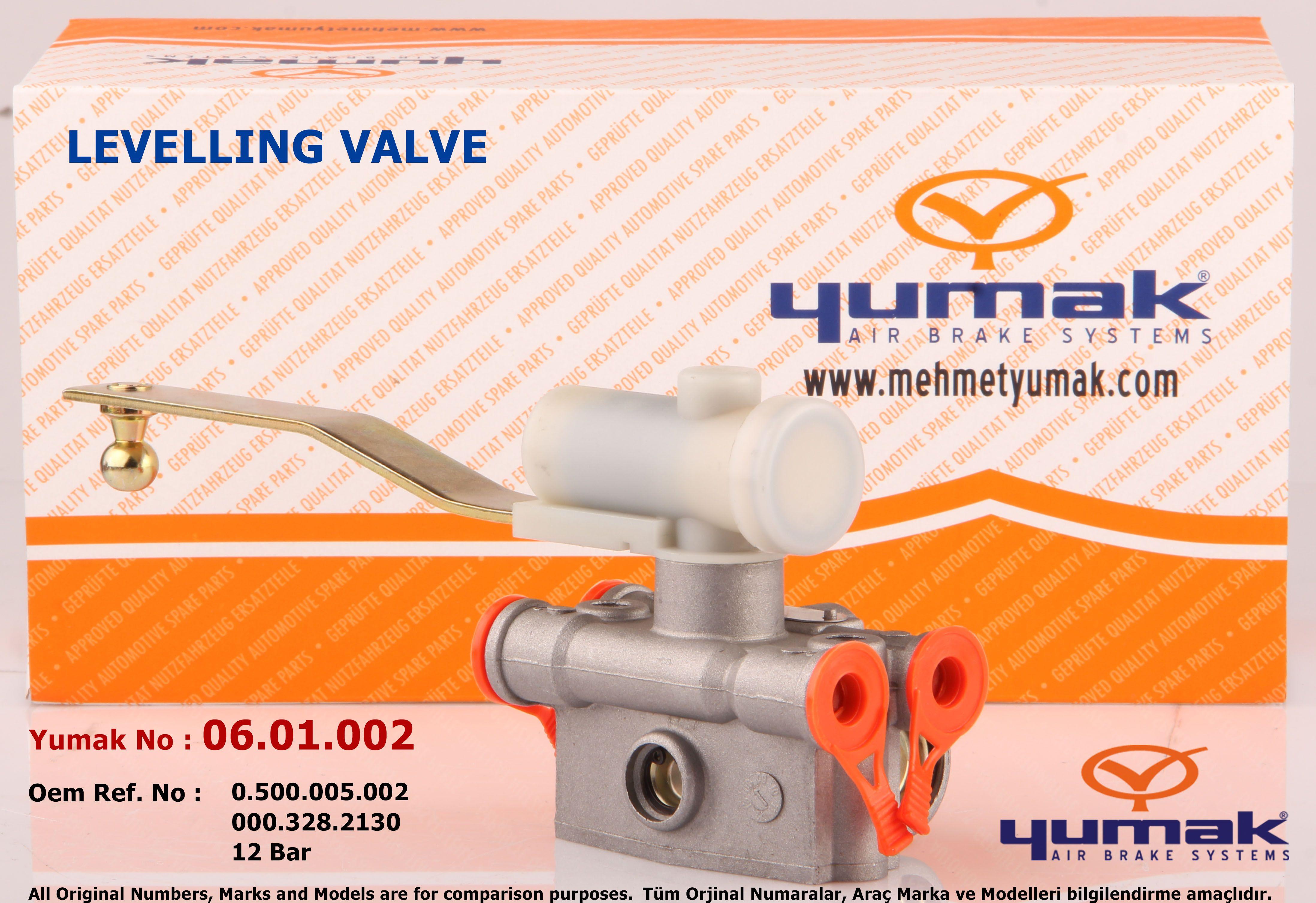 Levelling Valve Yumak No 06.01.002 Oem REf. No 0.500