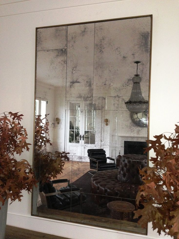 Oak Framed Random Panel Aged Mirror Designed And Custom Made By Nyary Australia Aged Mirror Distressed Mirror Mirror