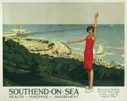 Vintage LNER Southend on Sea Railway Poster A3//A2//A1 Print