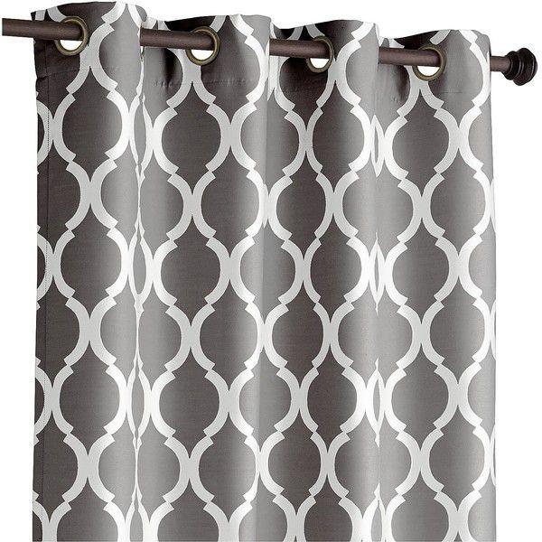 Pier 1 Imports Moorish Tile Charcoal 84 Curtain 45 Liked On