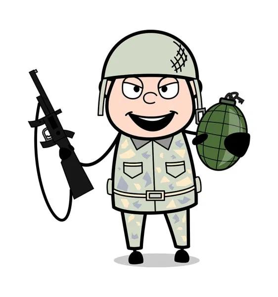 Pin On Army Man Cartoon Vectors