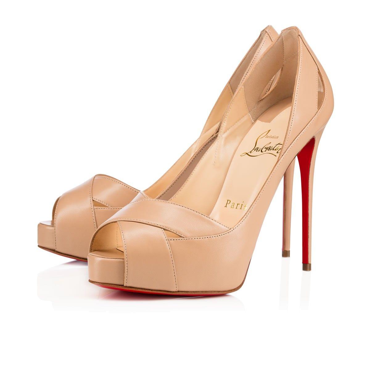 3943f3139223 Shoes - Academa - Christian Louboutin. CHRISTIAN LOUBOUTIN Academa 120Mm Nude  Leather.