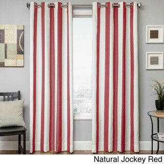 Beautiful Red And White Pirate Curtains