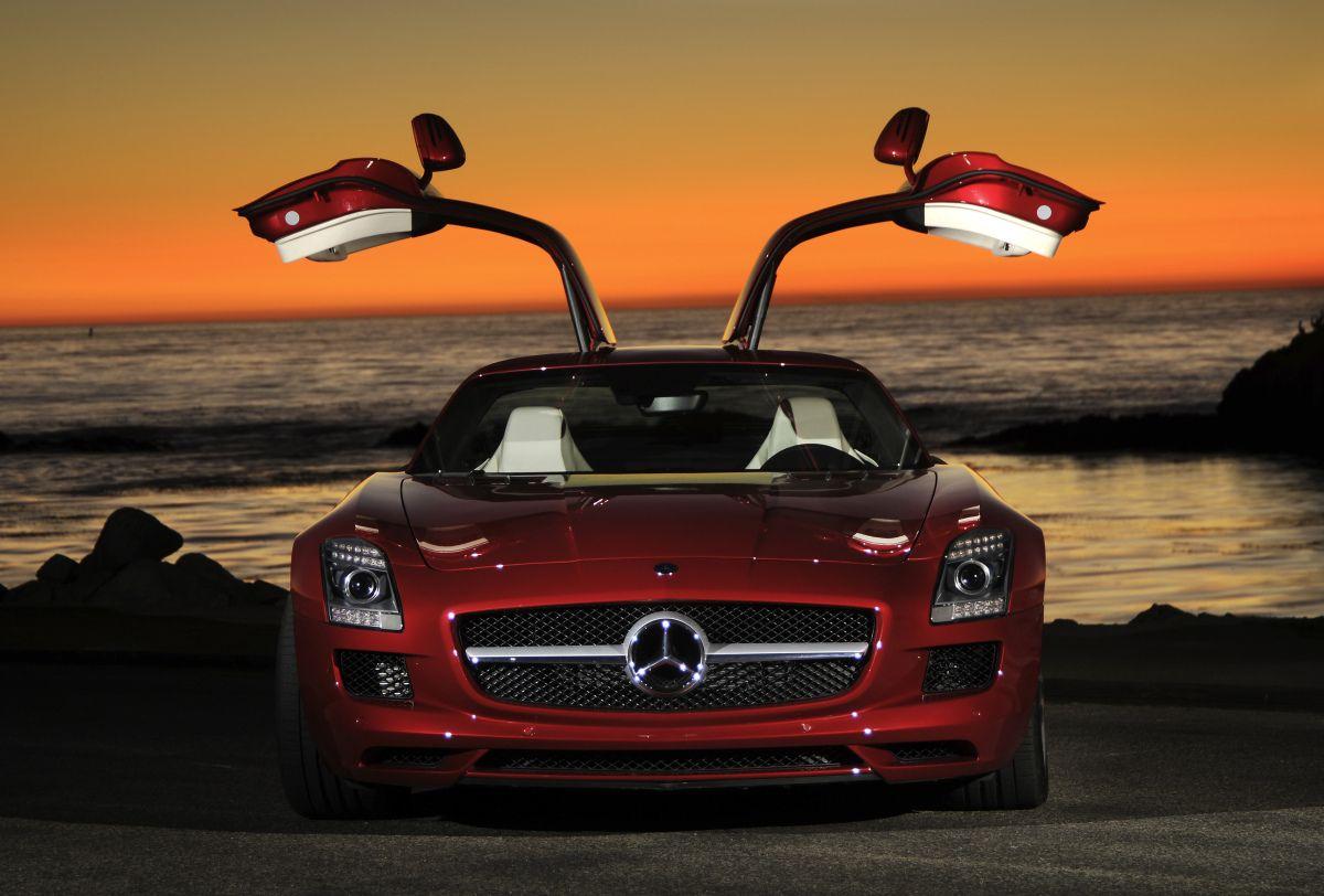 Mercedes-Benz SLS AMG Gullwing Coupe.