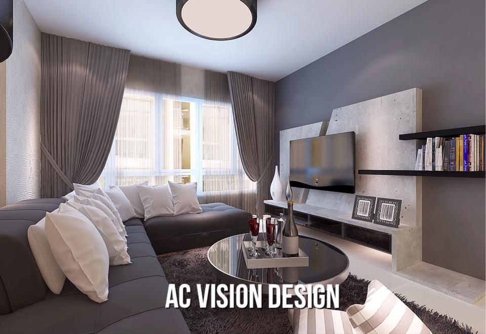 HDB BTO 4 Room 3D Design Ideas   Interior Design Singapore