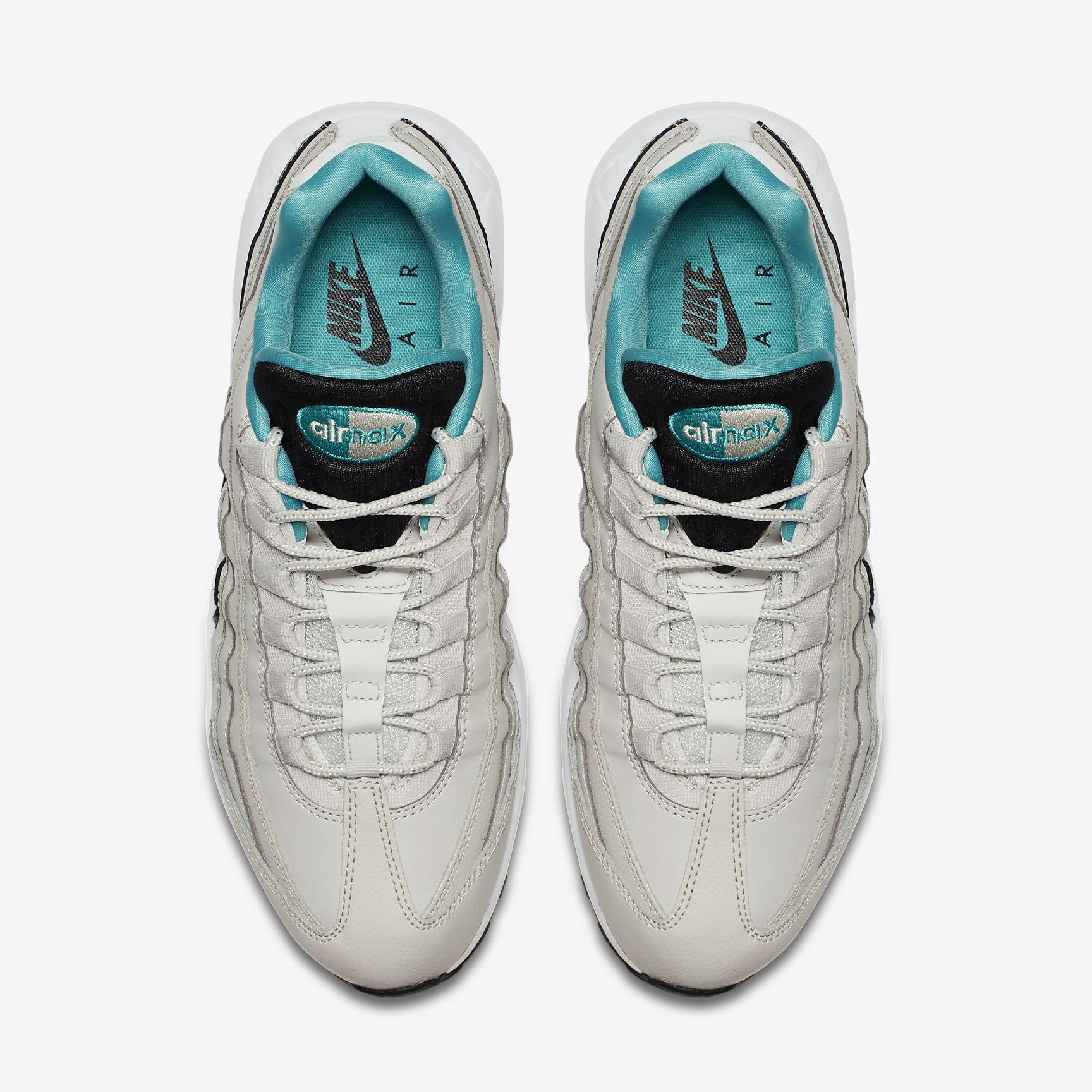reputable site 96481 605d9 Chaussures Homme AIR MAX 95 Essential Beige clair Noir Blanc Turquoise Sport