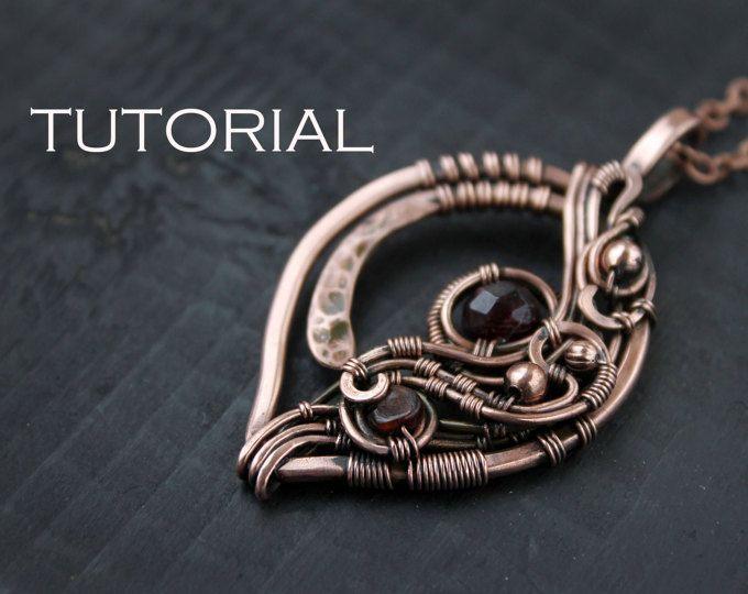Tutorial wirewrapped pendant PDF tutorial Wire wrapped jewelry Wire ...