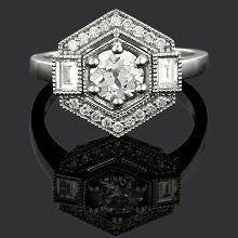 Diamond Deco Style Ring