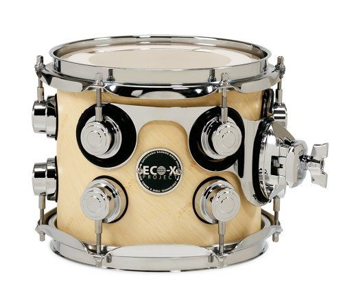 Dw Drums Eco X Tom Drum 7x8 Natural Bamboo Finish By Drum