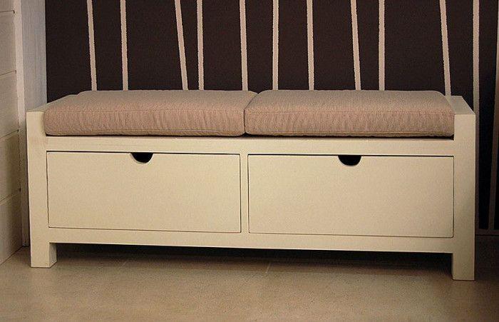 Banco pie de cama cajones Luster | Cama cajón, Bancos y Camas