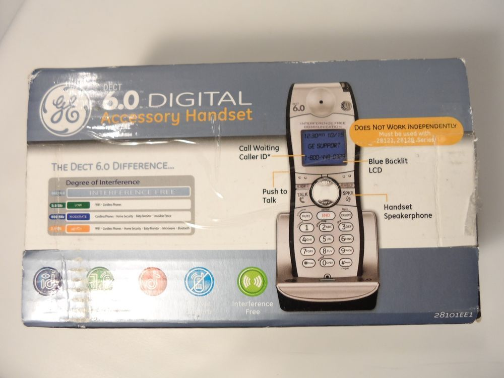 GE DECT 6.0 Handset for 25255RE1 Cordless Phone - 25055RE1 NEW IN BOX-Ships Free