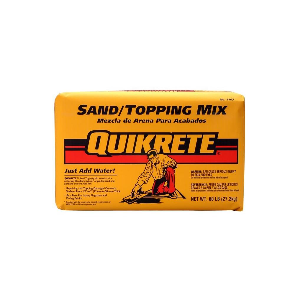 Quikrete 60 Lb Sand X2f Topping Mix 110360 The Home Depot
