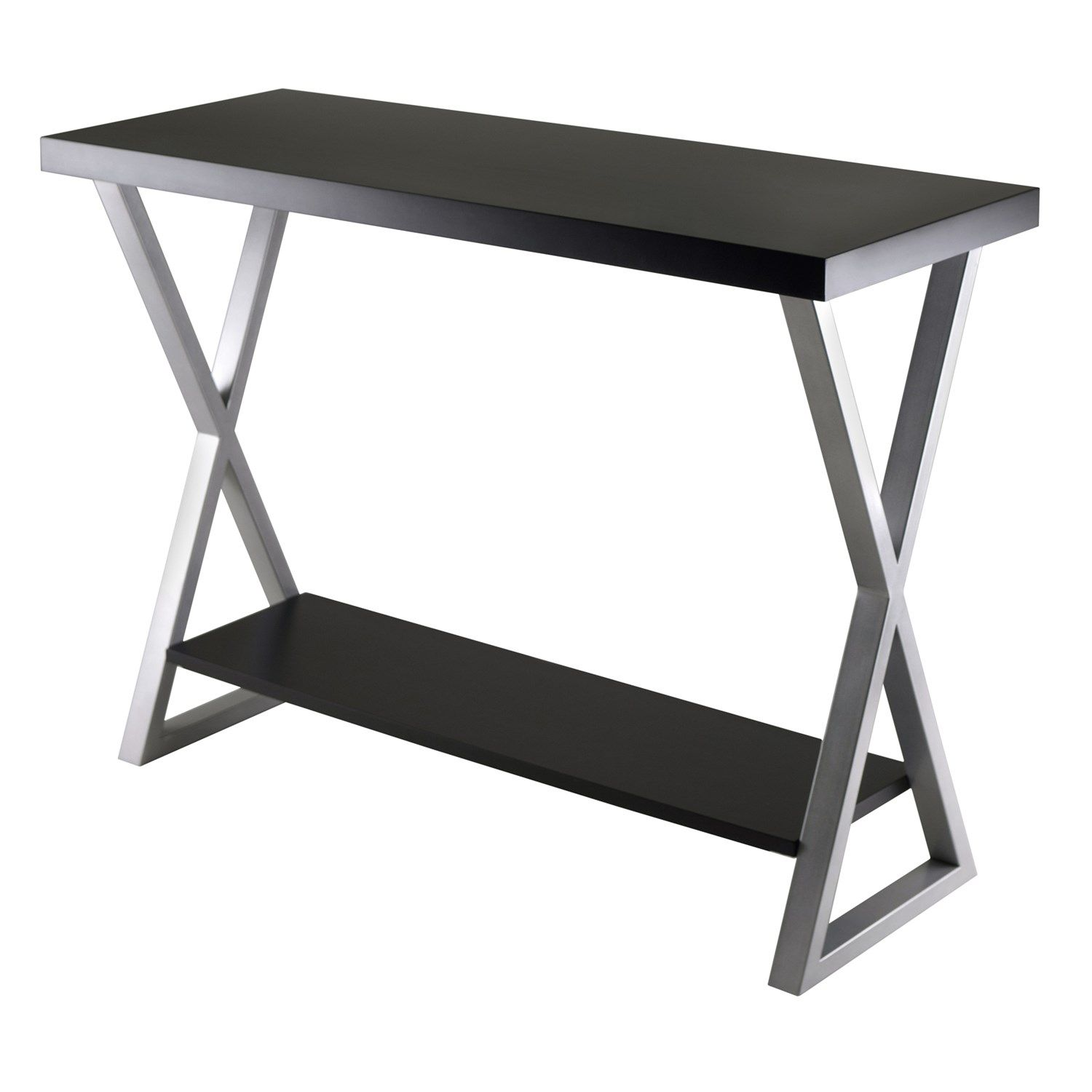 Winsome 93442 Korsa Console Table In Black/Metal