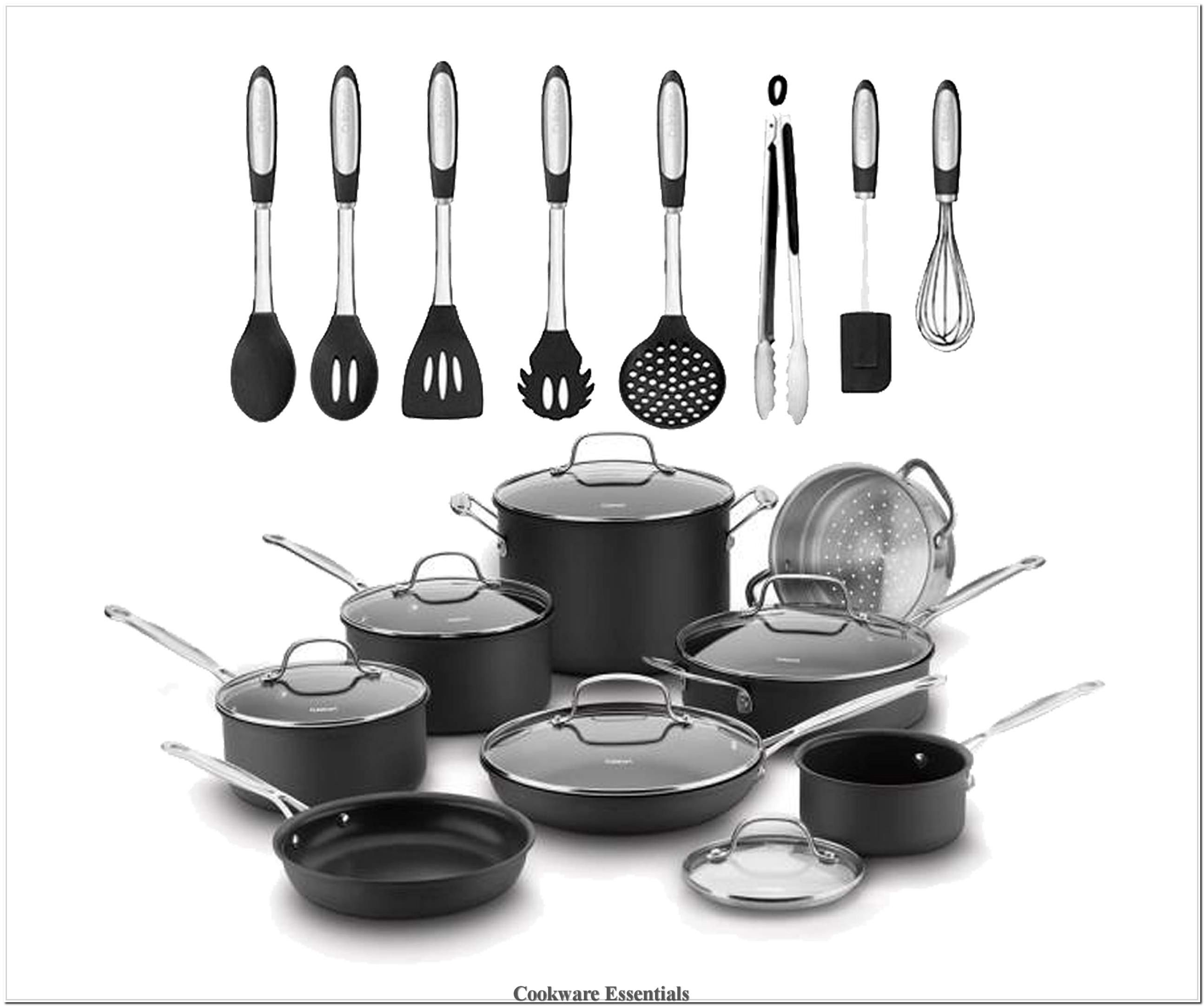 Cuisinart Chef S Classic 14 Piece Hard Anodized Cookware Set With Non Stick Cooking Surface A In 2020 Hard Anodized Cookware Silicone Kitchen Tools Cookware Essentials
