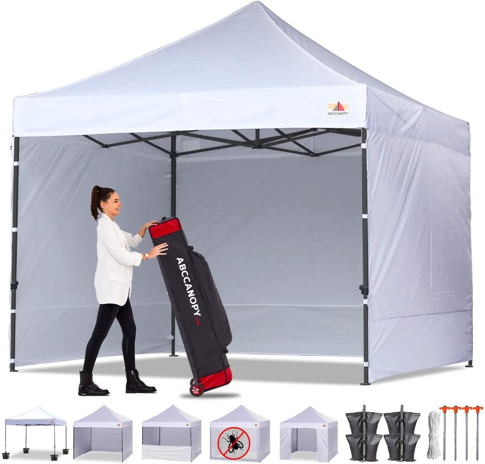 Amazon Com Abccanopy Canopy Tent Popup Canopy 10x10 Pop Up Canopies Commercial Tents Market Stall With 6 Removable Sidewa In 2020 Canopy Tent Pop Up Canopy Tent Tent