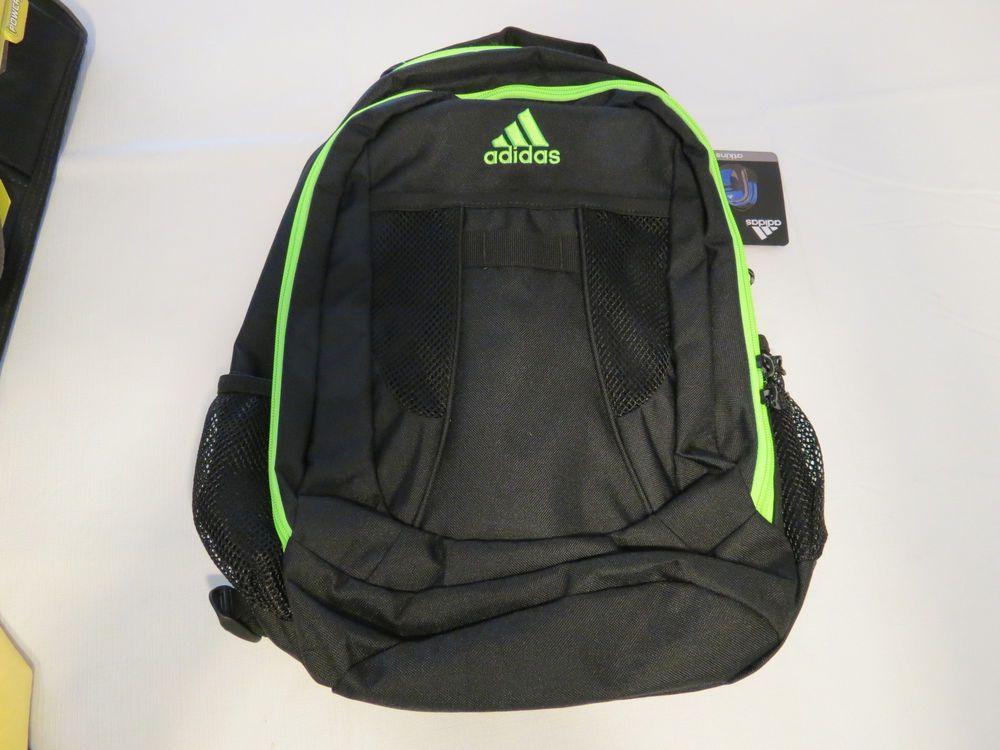 0869e3982b Adidas Atkins backpack black solar green back pack book bag127953C B161 NEW   adidas  Bookbag