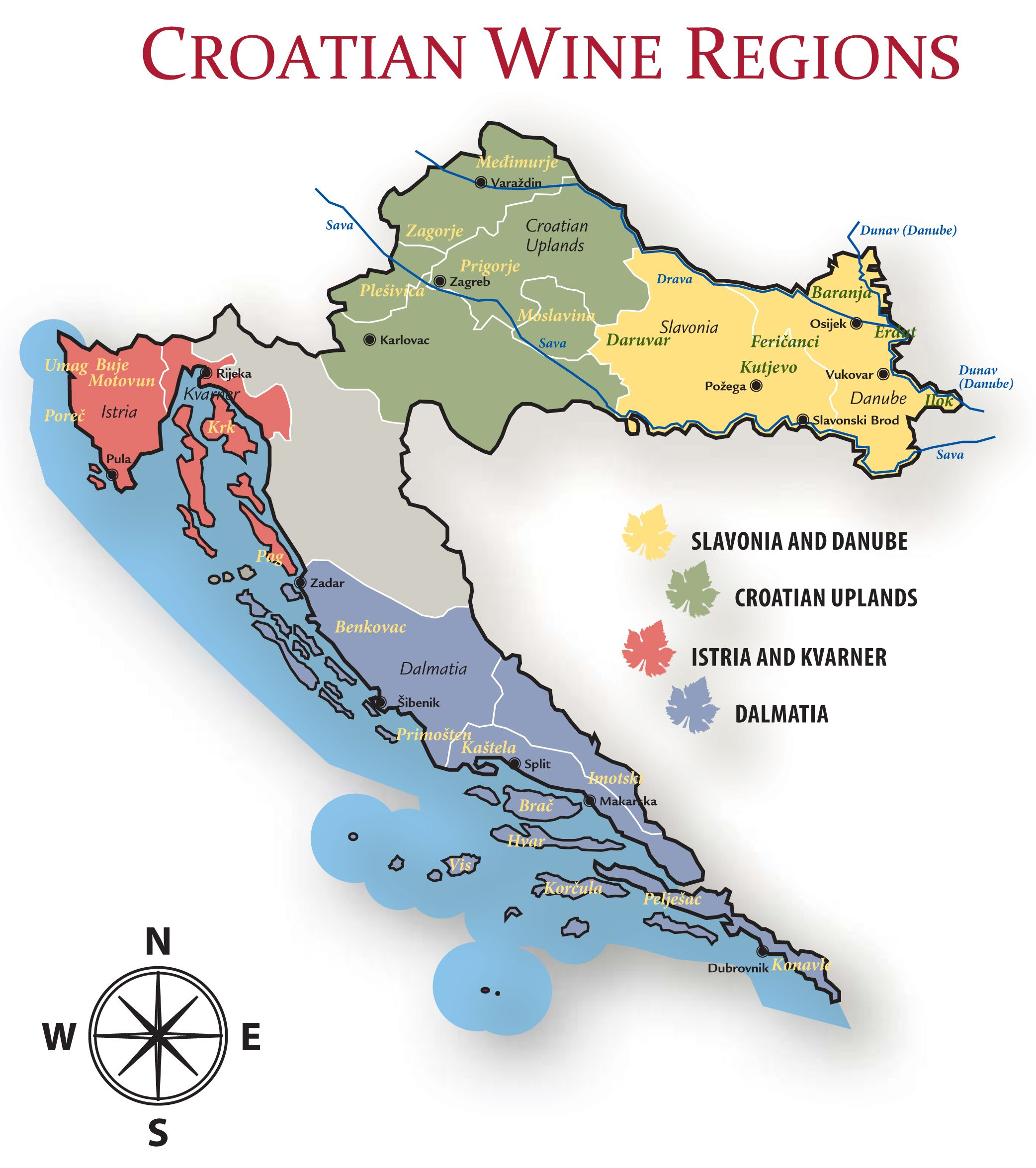 Wine Regions Croatia Slovenia Hungry Pesquisa Google Weinzeit
