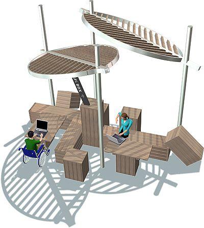 Nuevo concepto de equipamiento urbano de mader play for Equipamiento urbano arquitectura pdf