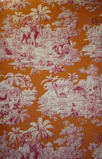 Love This Pink And Orange Toile Wallpapers Fabrics I Love In