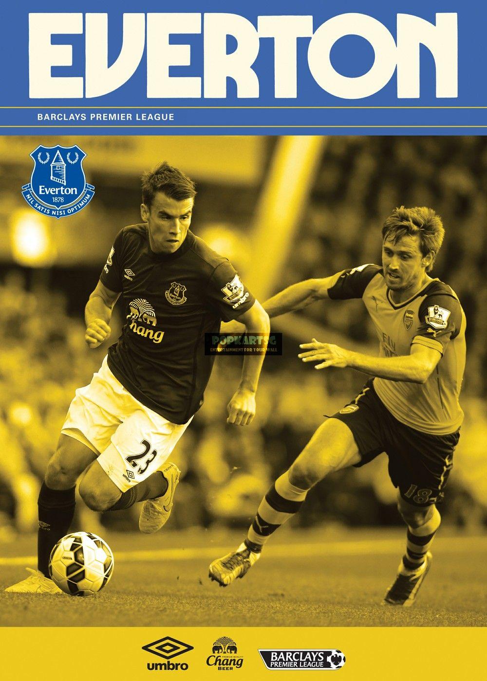 Everton The Toffees Poster No AS100 via PopKartSg. Click