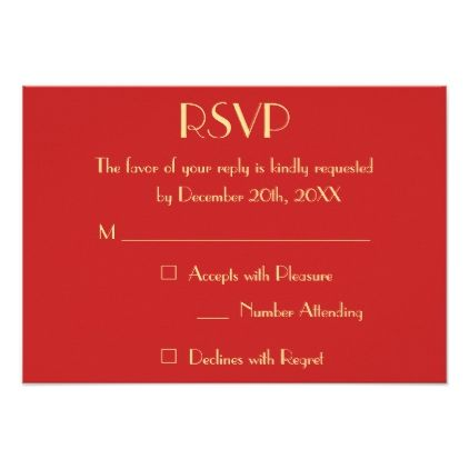 Personalized Modern Christmas Holiday Wedding RSVP Card - event card template