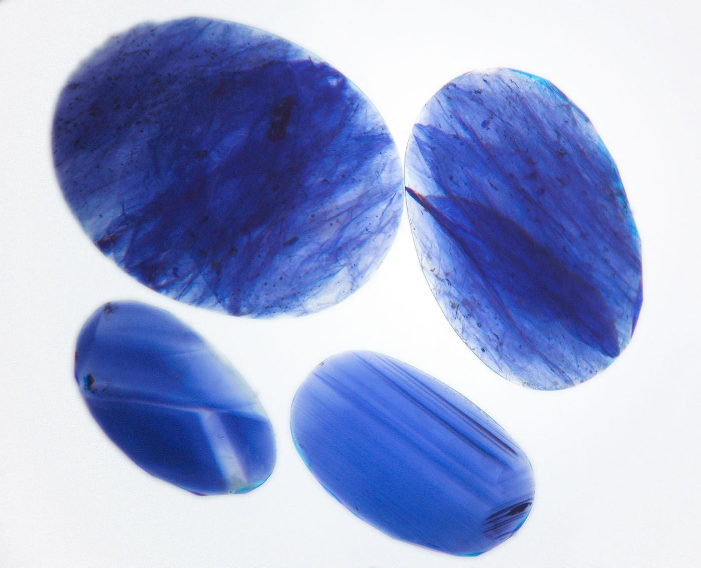 blue diffusion diffused en synthetic sapphire cut cts oval picture of