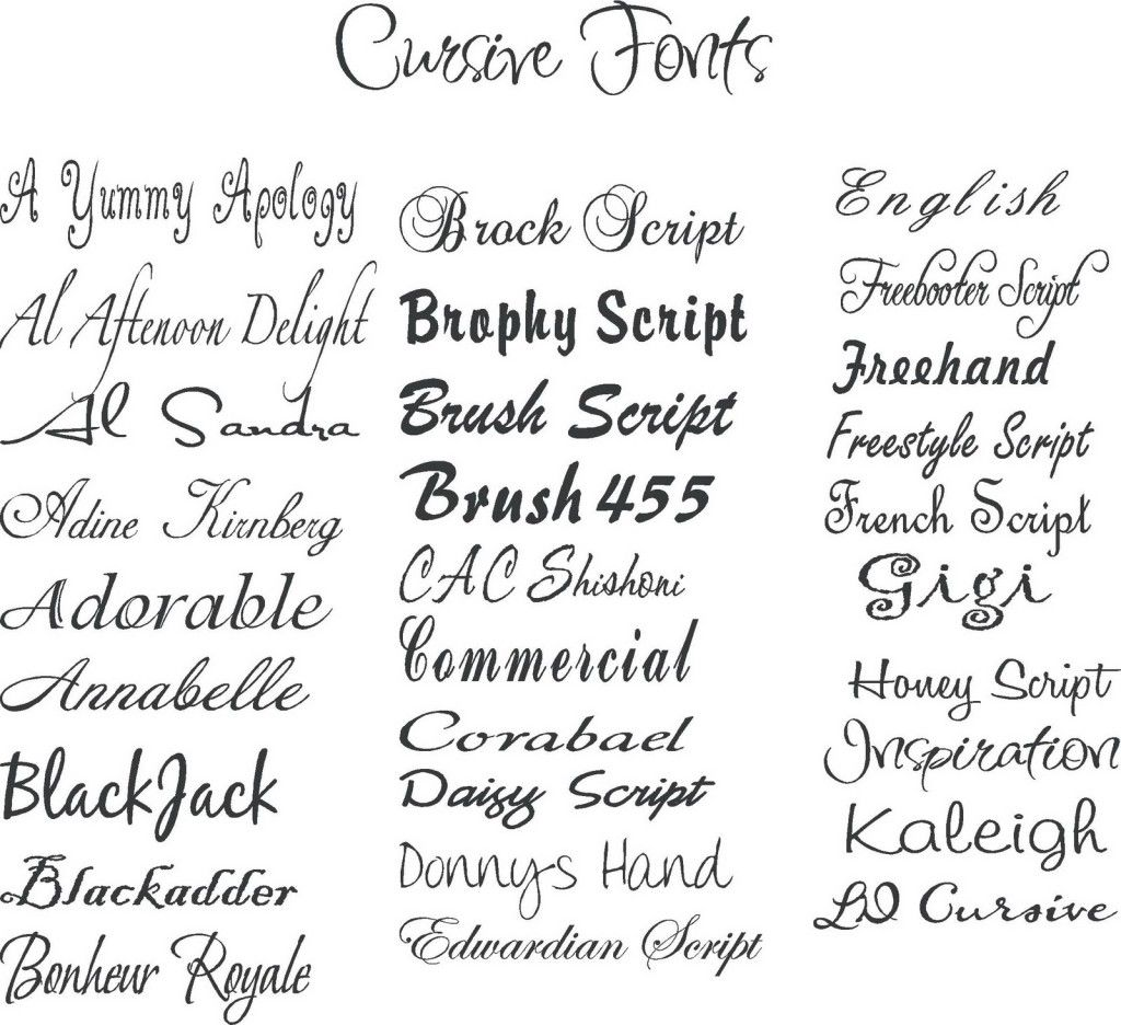 Handwriting script girly tattoo fonts tattoos