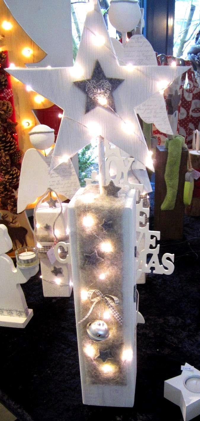 Brittas Kreativstubchen Kantholz Mit Holzstern Weihnachtlich Dekorieren Weihnachtsdekoration Und Weihnachtsschilder