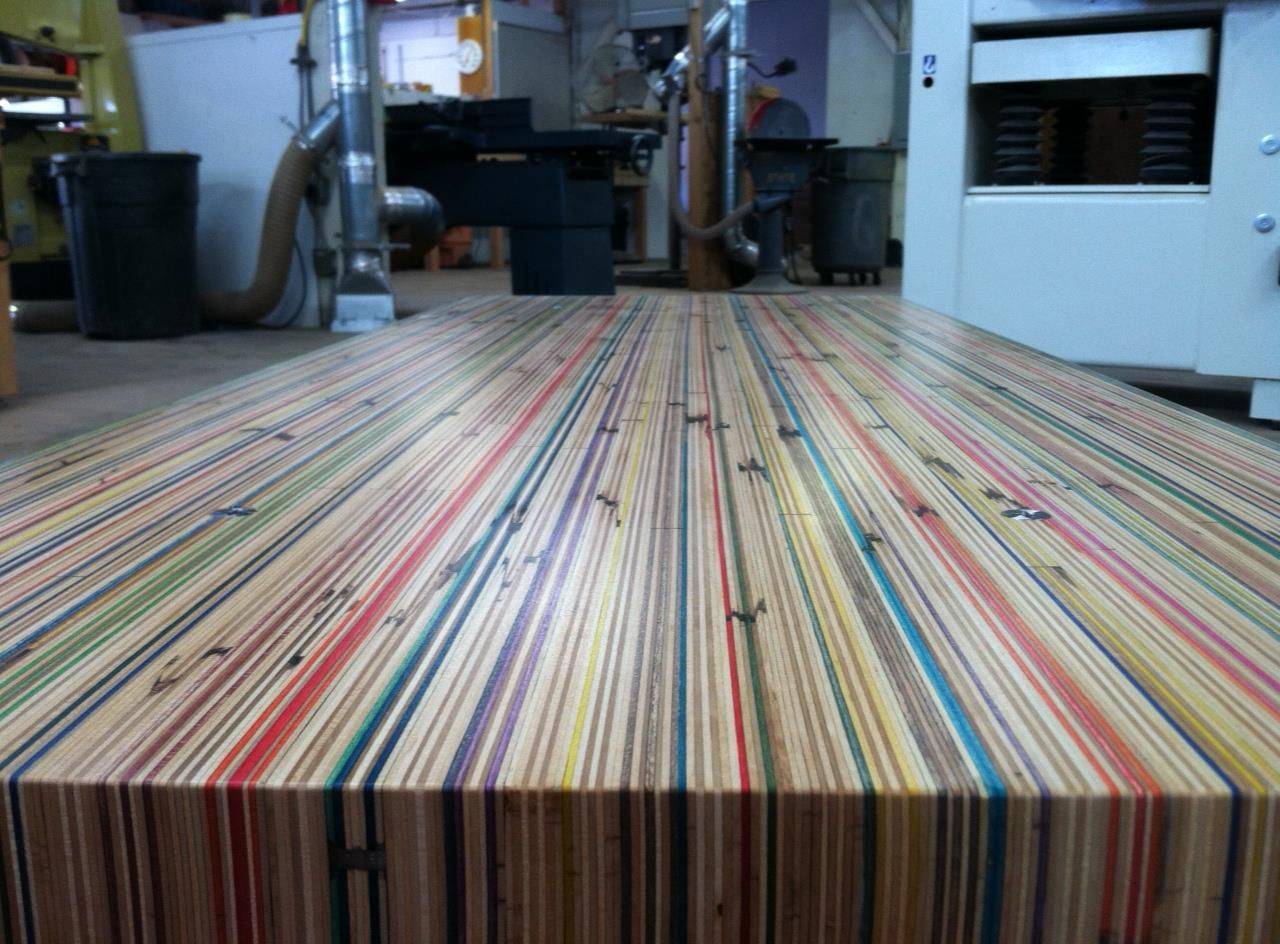 Coffee Table Made Out Of Skateboard Decks Made By Jake Mendez Skateboard Furniture Coffee Table Home Decor