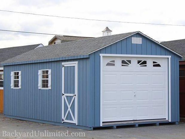 12u0027x24u0027 A Frame Garage With Sunburst Garage Door And Gable Vents  Http://www.backyardunlimited.com/sheds.php