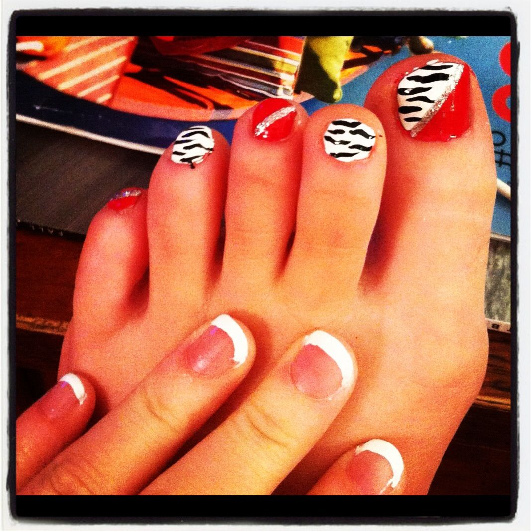My Toe Nails! Love this design! | nails | Pinterest | Fußnägel und ...