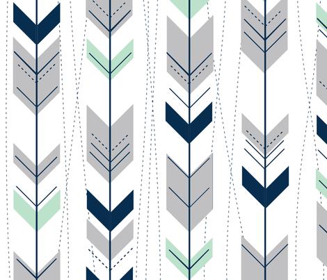 Spoonflower Navy Blue Nursery Arrow Baby Shower Iphone Background Wallpaper