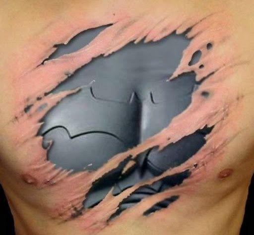 Batman 3d Chest Tattoo Designs For Men Batman Tattoo Tattoos