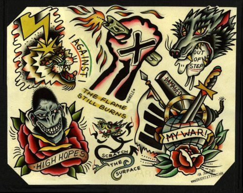 Pin By Tensionwire Com Live Well On Tattoos And Flash Traditional Tattoo Tattoo Flash Art Monkey Tattoos