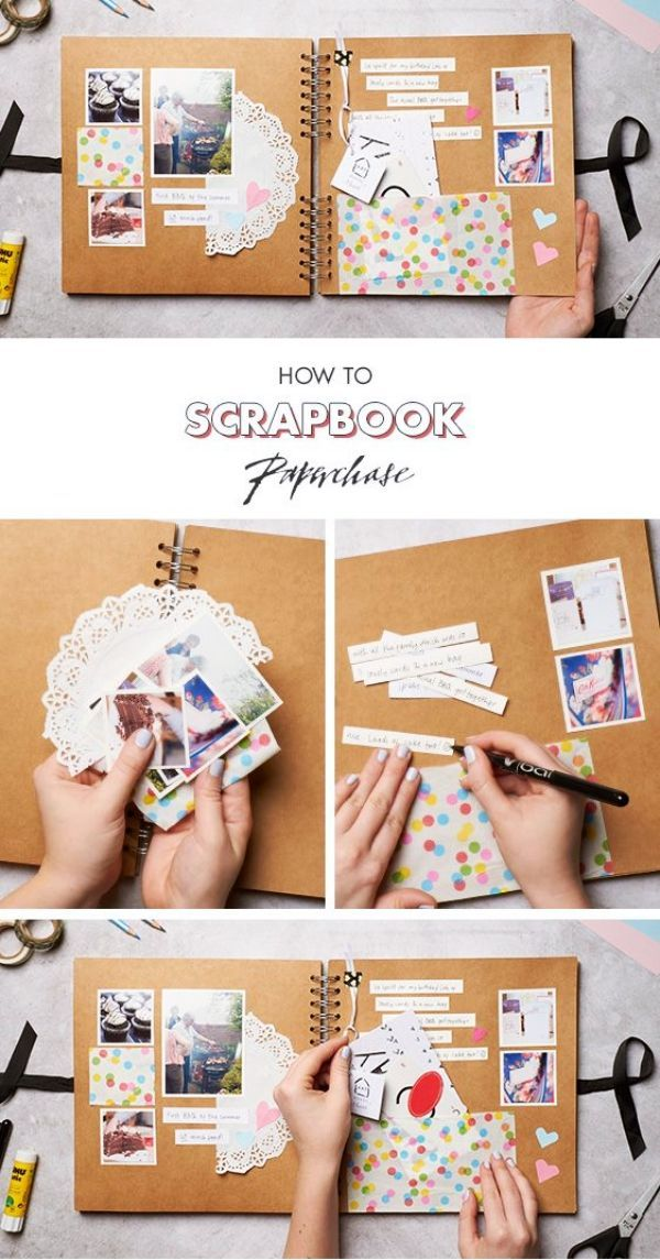 30 DIY Heart Touching Scrapbook Ideas - Bored Art #scrapbook