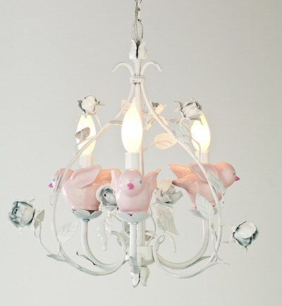 Pink Birds Chandicharms For Your S Room Chandelier Charms Childrens Decor Kids Lighting Nursery