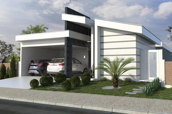 Planta de casa t rrea com rea gourmet projetos de casas for Casa moderna gratis